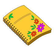 Notebook with flowers Royalty Free Stock Images