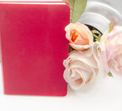 Notebook with flowers Royalty Free Stock Photography