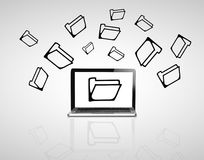 Notebook and folder Royalty Free Stock Image