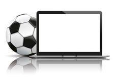 Notebook Football Mockup Mirror Stock Image
