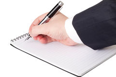 Notebook and a fountain pen Royalty Free Stock Photo