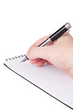 Notebook and a fountain pen. Royalty Free Stock Photo
