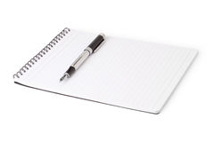 Notebook and a fountain pen Royalty Free Stock Photos