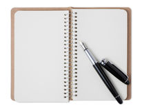notebook and fountain pen Stock Photo
