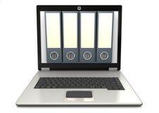 Notebook Four Folders Stock Photos