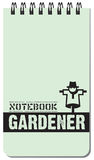 Notebook gardener for notes. Notebook gardener, for notes on a spring. Vector illustration Royalty Free Stock Images