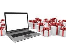 Notebook Gift Cartons Royalty Free Stock Photos