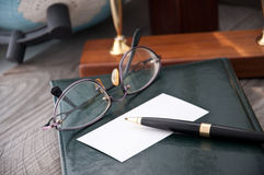The notebook and glasses Royalty Free Stock Photo