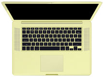 Notebook gold top Stock Photo