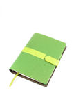 Notebook green cover. Isolated on white background royalty free illustration