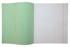 Notebook with grid Royalty Free Stock Image