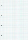 NOTEBOOK GRIDDED SHEET BACKGROUND. Blank gridded sheet ready for writing Stock Image