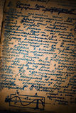 Notebook grungy page Royalty Free Stock Image