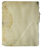Notebook grungy page Royalty Free Stock Images