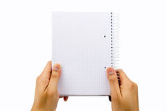 With the notebook Royalty Free Stock Photos