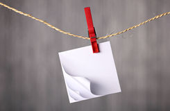 Notebook hanging on rope Stock Images