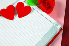 Notebook and heart Royalty Free Stock Image