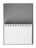 Notebook horizontal single blank page. Gray cover Notebook horizontal single blank page Stock Image
