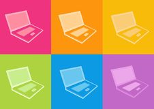 Notebook icon. 3d notebook icon - computer generated icon Royalty Free Stock Images