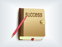 Notebook icon. The success concept Stock Image