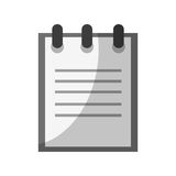 Notebook icon image Stock Photography