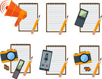 Notebook icon Stock Photography