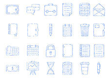 Notebook icons set Stock Photos