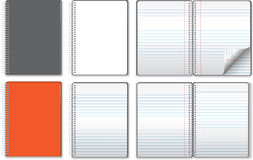 Notebook illustrations Royalty Free Stock Photos