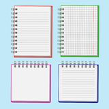 Notebook for important records used in decorating websites, post. Notebook for important information used in decorating websites, posters, stands Royalty Free Stock Photo