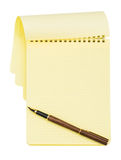 Notebook with ink pen Royalty Free Stock Image
