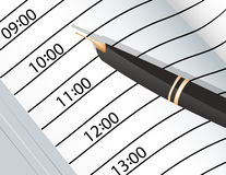 Notebook and ink pens Royalty Free Stock Images