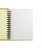 Notebook isolated on white Stock Photo