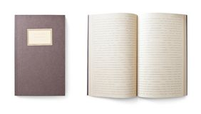 Notebook isolated on white, clipping path included royalty free stock image
