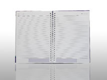 Notebook isolation with reflection on white background Royalty Free Stock Photos