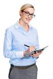Notebook journal woman Stock Photo