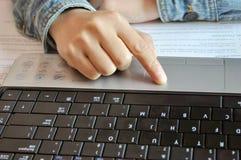 notebook keyboard Stock Photos