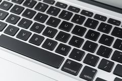 Notebook keyboard Royalty Free Stock Photography