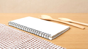Notebook and kitchen tools Royalty Free Stock Image