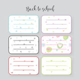 Notebook labels - Set of stickers Royalty Free Stock Photography