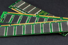 Notebook and laptop computer memory, pc memory banks Stock Photo