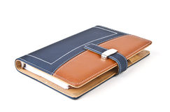 Notebook with leather cover. Stock Photos