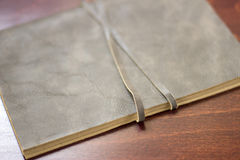 Notebook with leather cover Royalty Free Stock Photo