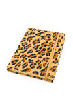 Notebook leopard cover. Isolated on white background vector illustration