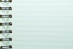 Notebook lined paper Royalty Free Stock Image