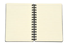 Notebook with lines Stock Images
