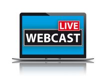 Notebook Live Webcast Royalty Free Stock Images