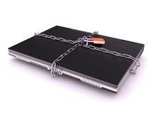 Notebook locked by padlock Stock Photos