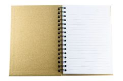 Notebook Made of recycled paper. Isolated on white background Stock Image