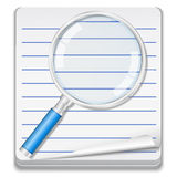 Notebook with magnifying glass Royalty Free Stock Photos