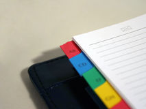 Notebook - mail. An empty notebook opened on mail page royalty free stock photos